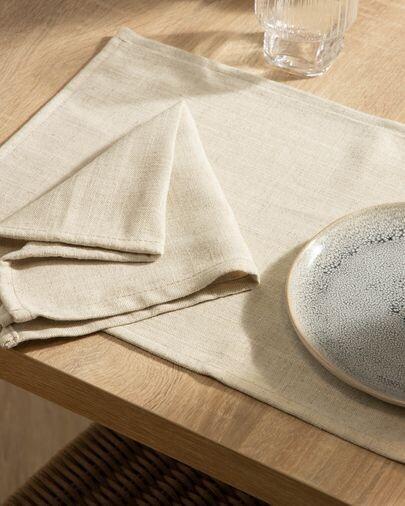 Set Samay de 4 servilletas blanco