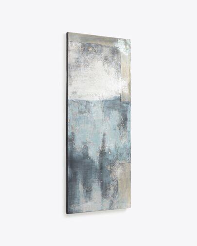 Lienzo Urbelina blanco y azul 50 x 120 cm