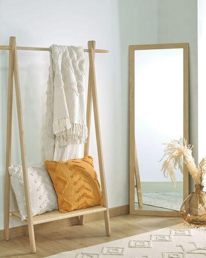 Espejo Wilany 52,5 x 152,5 cm con acabado natural