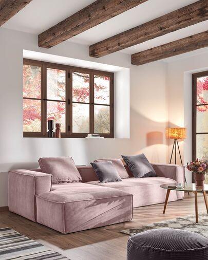 Cojín Blok 50 x 60 cm pana rosa