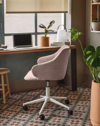 Silla de escritorio Einara rosa