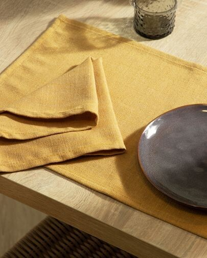 Set Samay de 4 manteles individuales mostaza