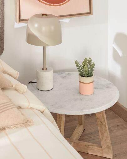Lámpara de mesa Alish de metal y mármol