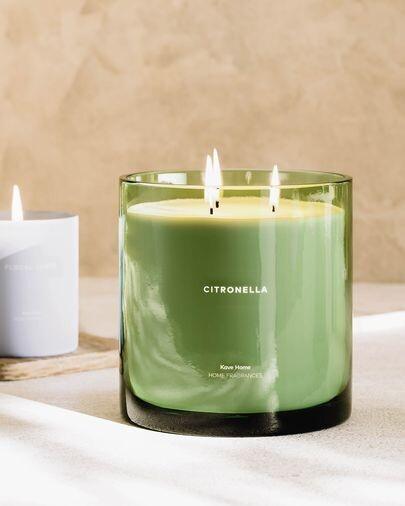 Vela aromática Citronella verde 750 gr