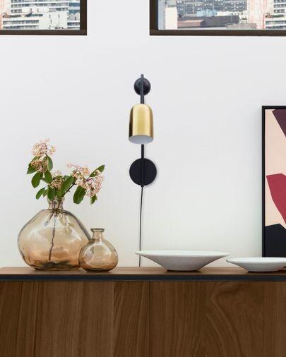 Aplique Natsumi de metal, madera y mármol