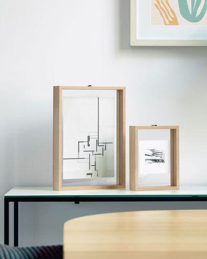 Marco de fotos Flavina 22 x 31 cm con acabado natural