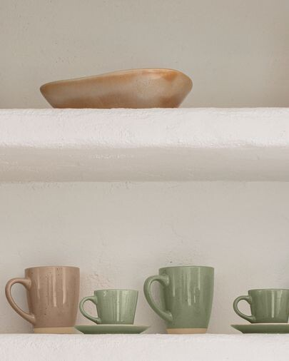 Taza Tilia cerámica verde claro