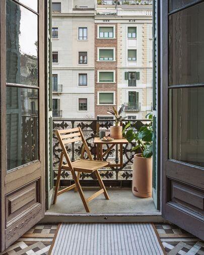 Mesa plegable de balcón Amarilis madera maciza acacia 40 x 42 cm FSC 100%