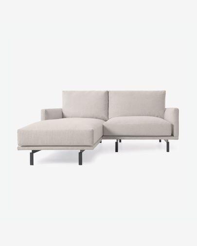 Sofá Galene 3 plazas con chaise longue izquierdo beige 214 cm