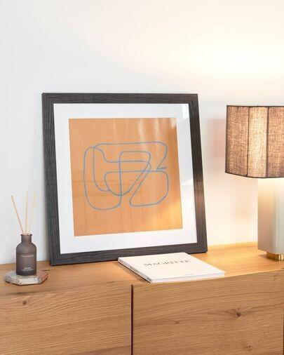 Cuadro Lorelai naranja 50 x 50 cm
