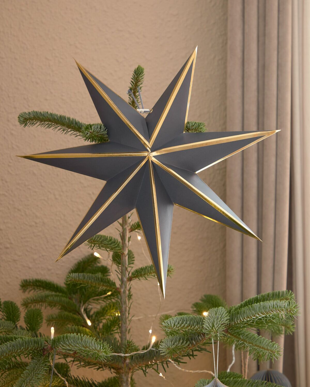 Estrella colgante decorativa grande Vica azul