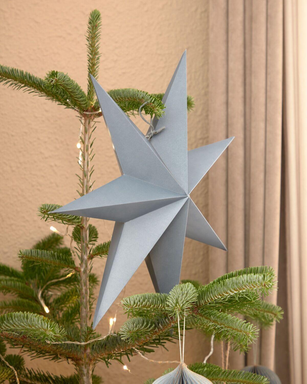Estrella colgante decorativa mediano Vica azul claro