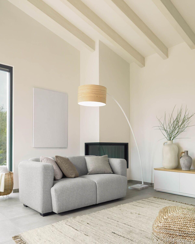 Sofá Legara 2 plazas gris claro 160 cm