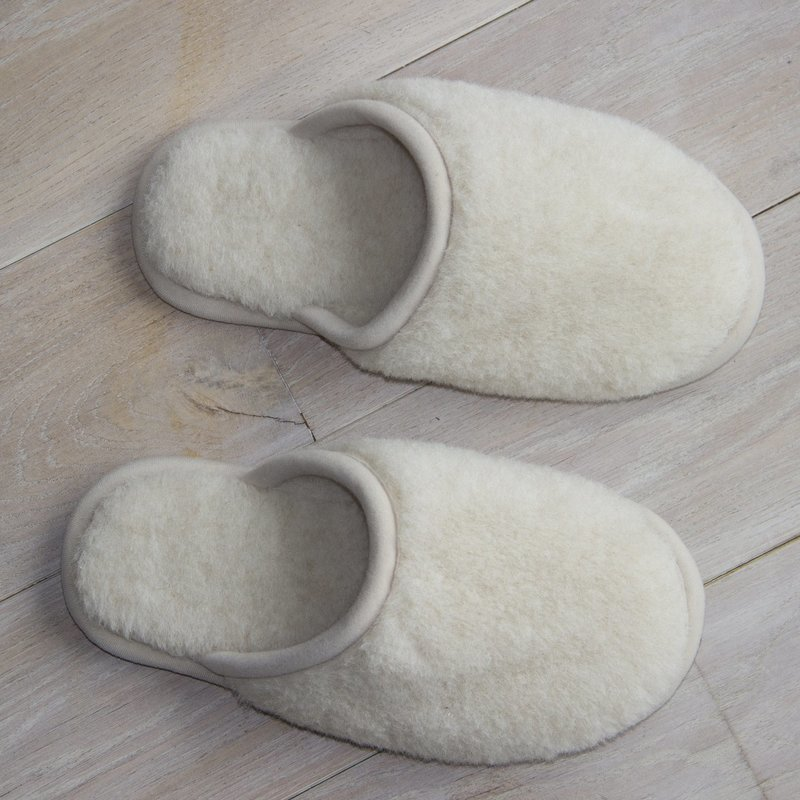 Cream Wool Slippers