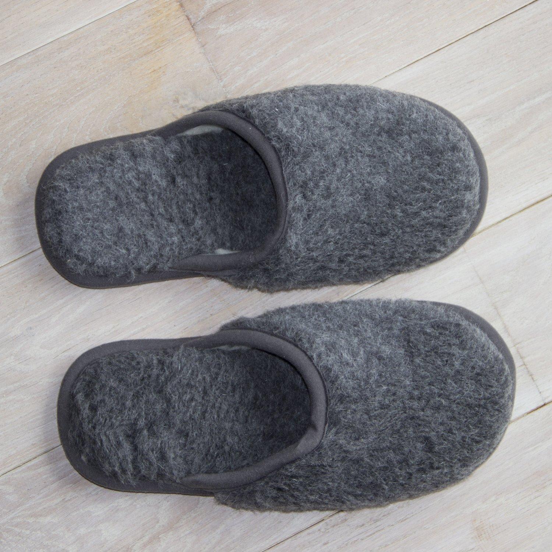 Graphite Merino Wool Slippers