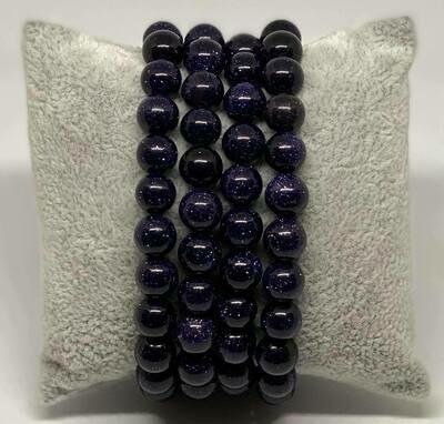 Armband Blauwe Goudsteen