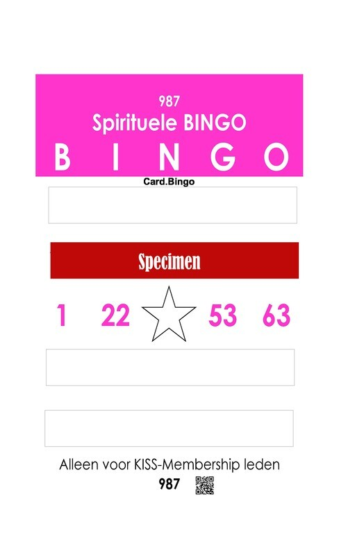 Spirituele bingo kaart - Alleen voor KISS-Members