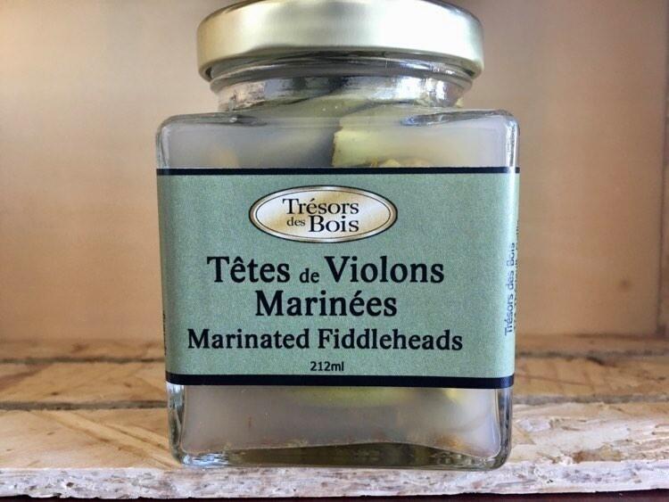 Têtes de violons marinées (212 ml) [Trésors des bois]