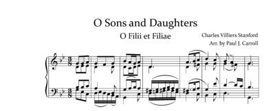 O Sons and Daughters - O Filii et Filiae