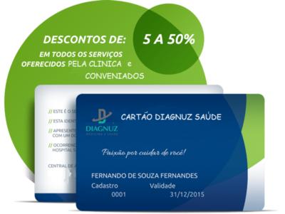 Cartão Diagnuz Saúde  - Plano Familiar ( Titular + 2 Dependente )