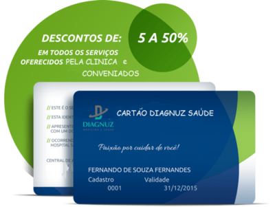 Cartão Diagnuz Saúde  - Plano Familiar ( Titular + 4 Dependente )