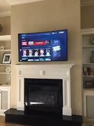 Advanced Drywall Fireplace Mounting of a TV - (OPTION)