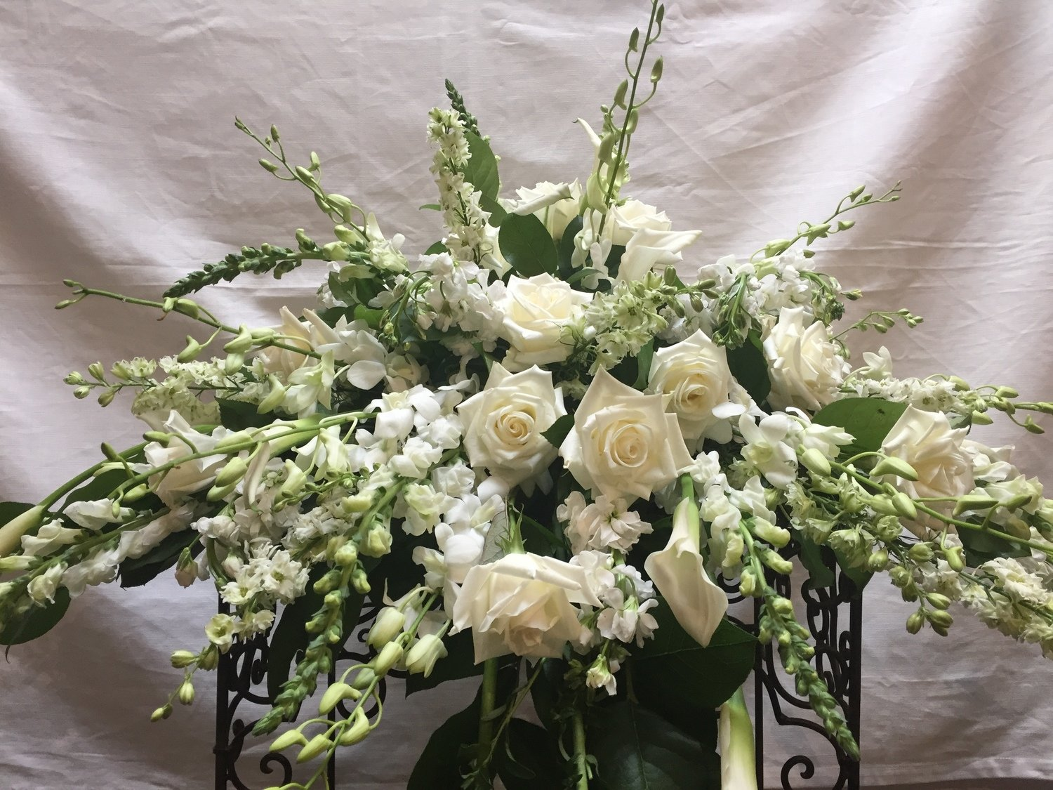 White Blanket by Twigs Florist