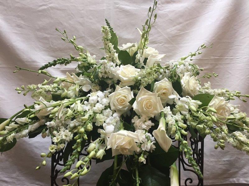 White Blanket by Twigs Florist