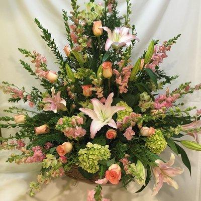 Feminine Fireside by Twigs Florist