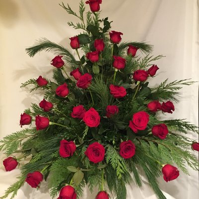 Simply Red Urn by Twigs Florist