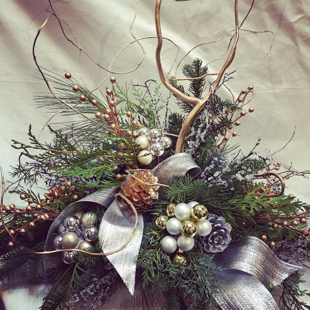 Silver and Gold  by Twigs Florist