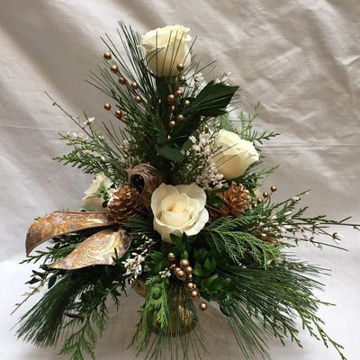 White Hogarth by Twigs Florist