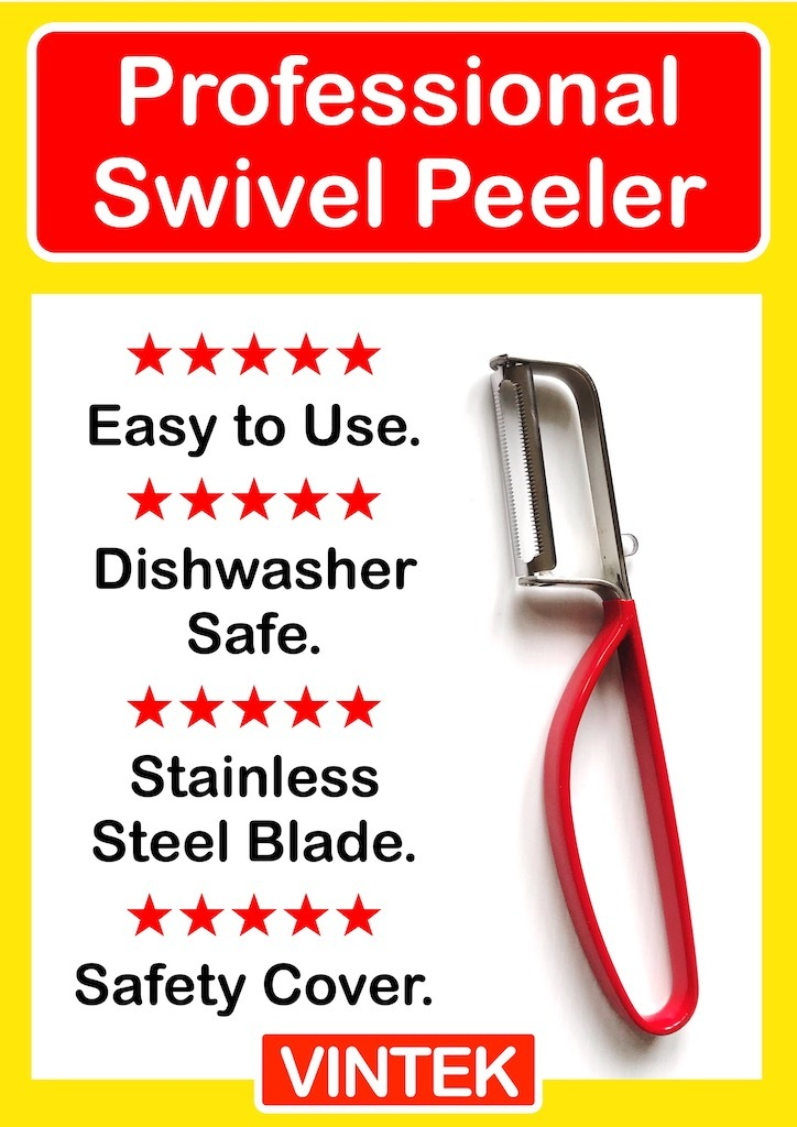 VINTEK Professional Swivel Peeler