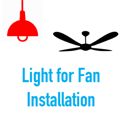Fan from Light Install