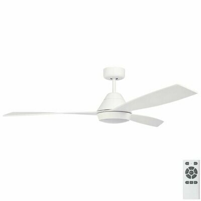 Fully Installed - Fanco Eco Breeze DC Ceiling Fan with LED Light & Remote – White 52″