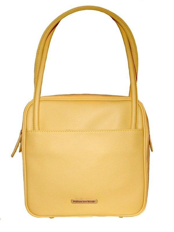 Palloncino Verde Yellow Square Eco-Leather Handbag