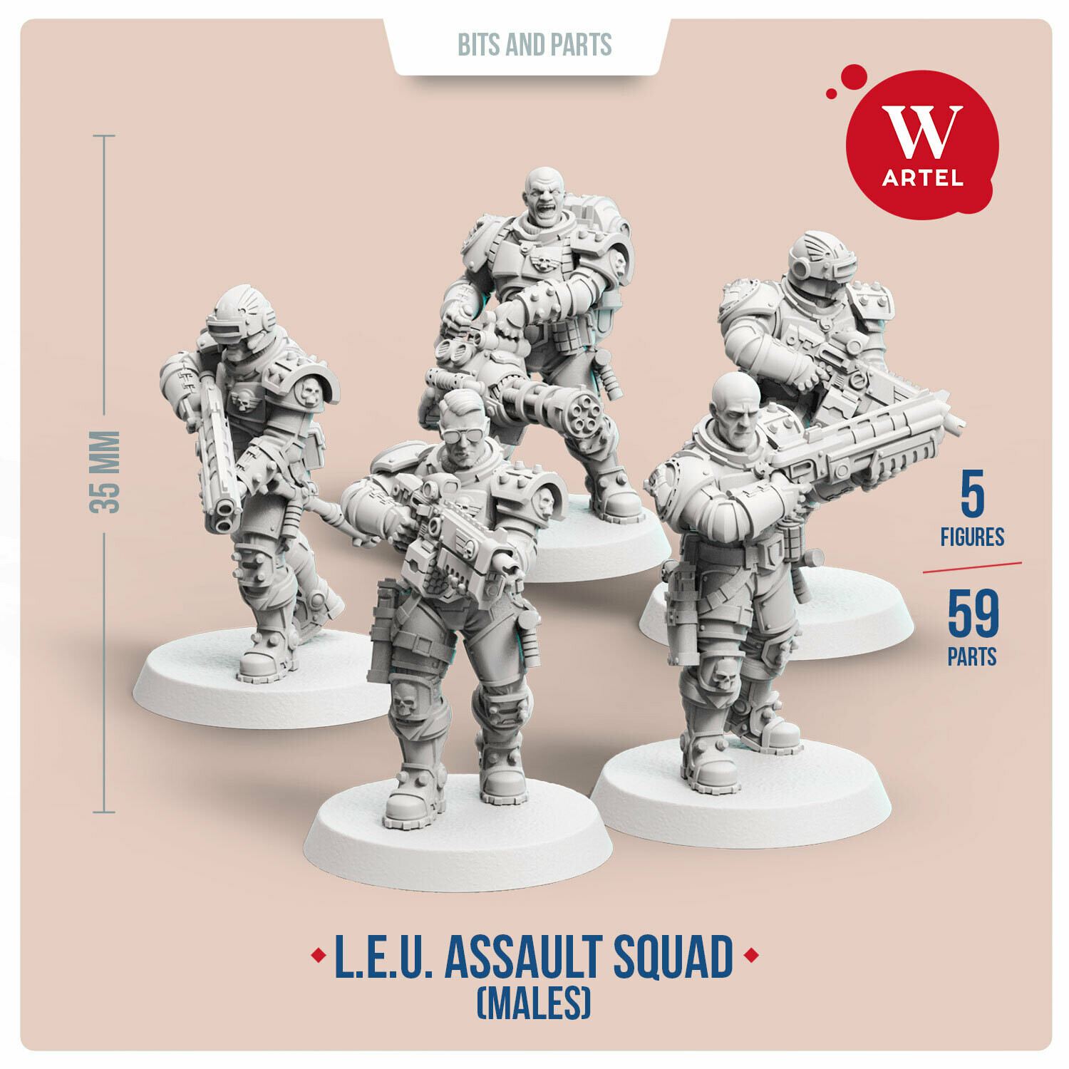 L.E.U. - Assault Squad (Male enforcers)