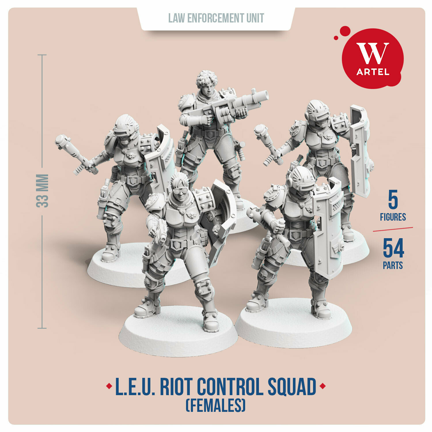 L.E.U. - Riot Control Squad (Female enforcers)
