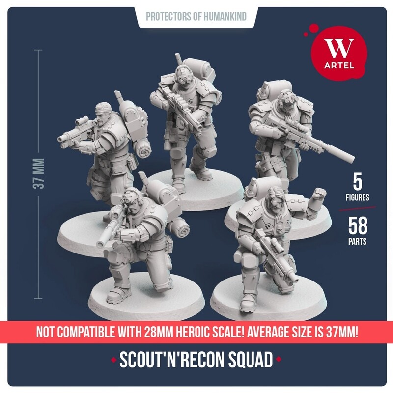 Scout`n`Recon Squad 32mm scale (5 scouts)