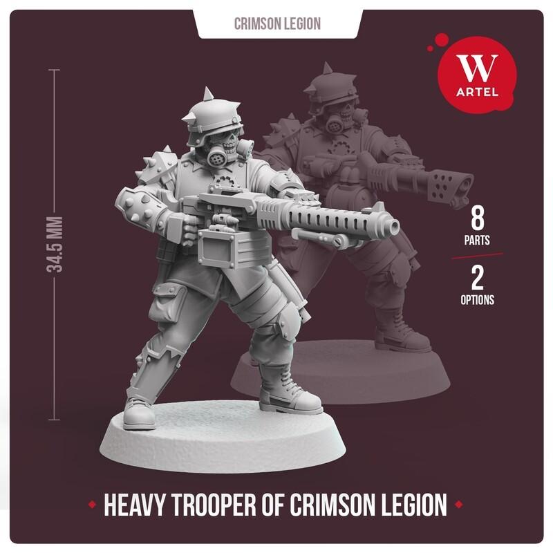 Crimson Legion Heavy Trooper