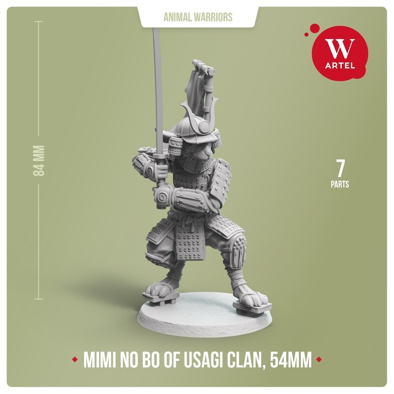 Mimi no Bo, warrior of Usagi Clan - 54mm scale