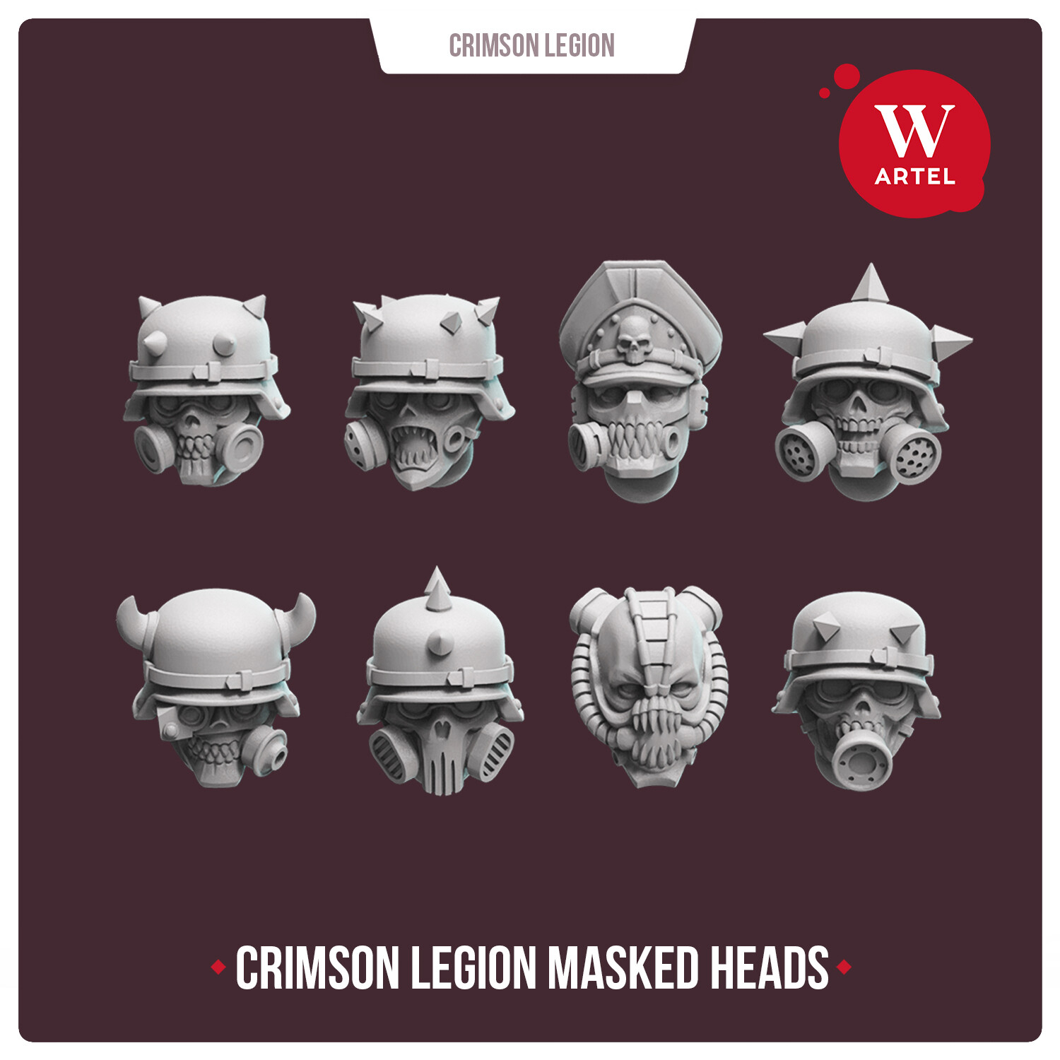 Crimson Legion Heads Set