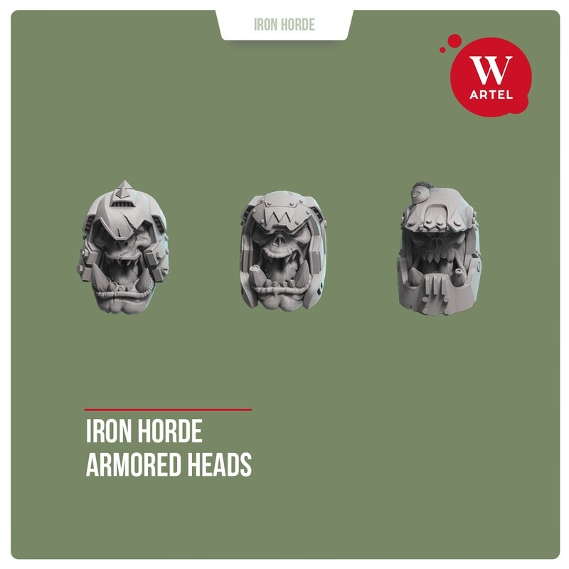 Iron Horde Armoured Heads