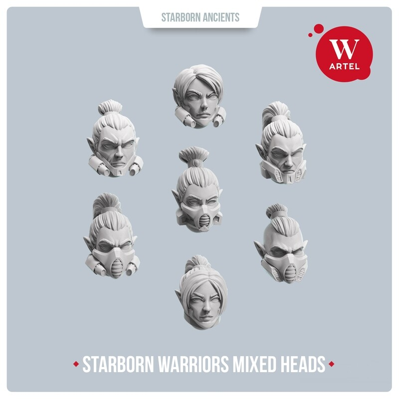 Starborn Warriors Mixed Heads