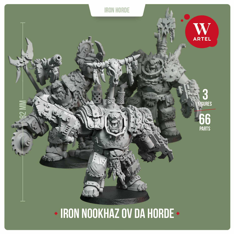 Iron Nookhaz ov da Horde (3 miniatures)