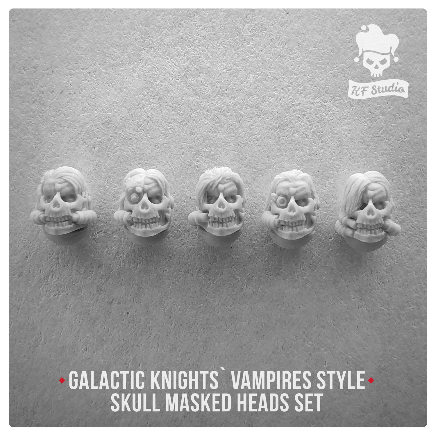 Galactic Knights Vampire Style skull masked heads by KFStudio