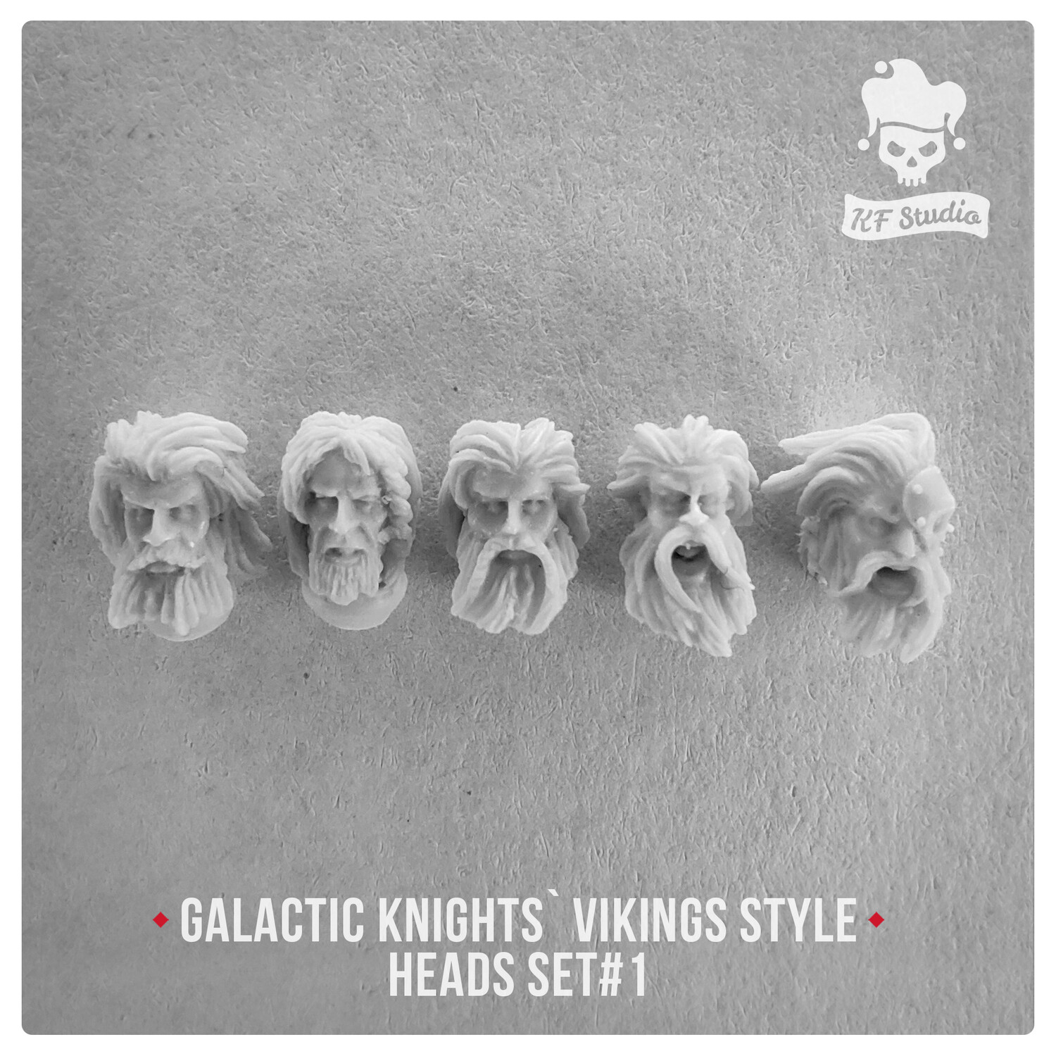 Galactic Knights Viking Style Heads Set#1 by KFStudio