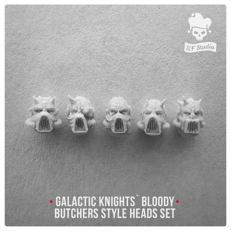 Galactic Knights Bloody Butcher Style Heads by  KFStudio