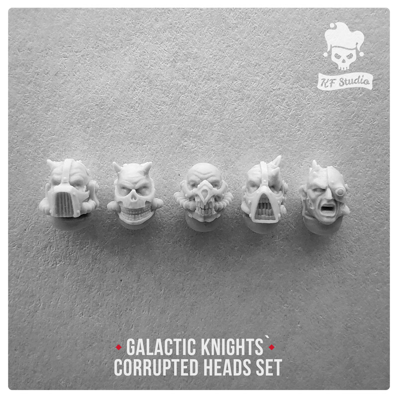 Galactic Knights Сorrupted Heads by KFStudio