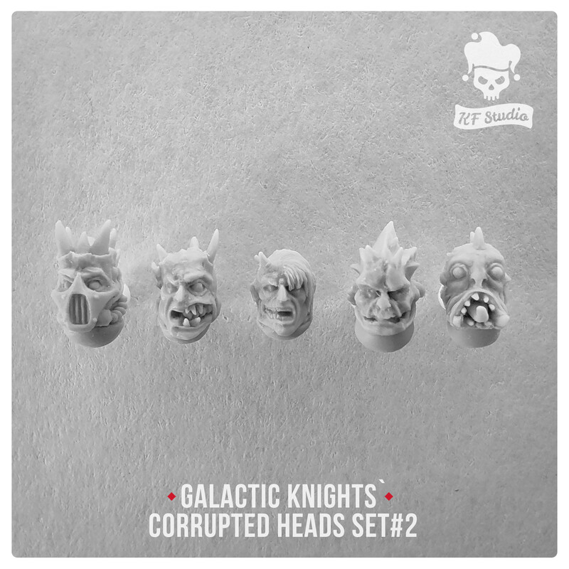 Galactic Knights Сorrupted Heads Set#2 by KFStudio